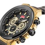 Ducati Black Dial Genuine Leather Watch DTWGF2019202