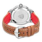 Ducati Silver Dial Genuine Leather Analog Watch DTWGB2019403