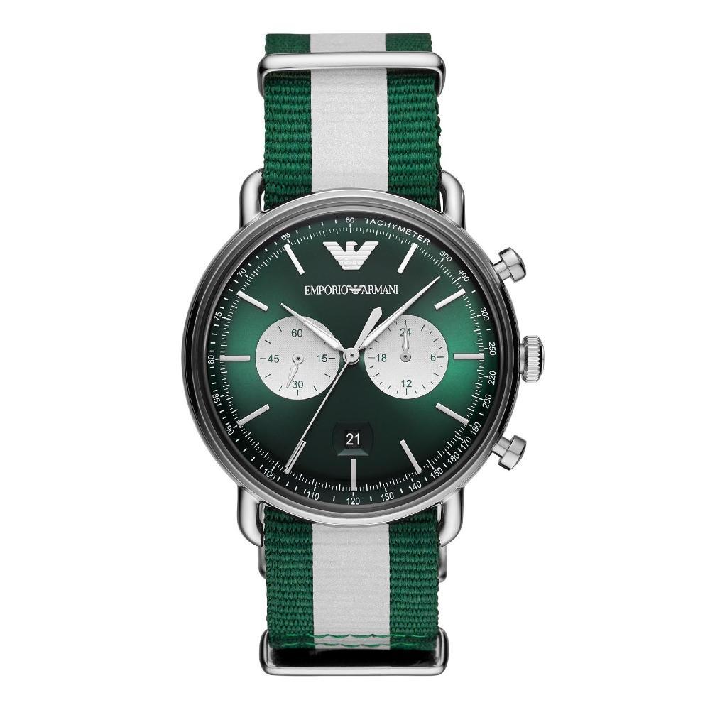 Emporio Armani Analog Green Dial Men's Watch-AR11221