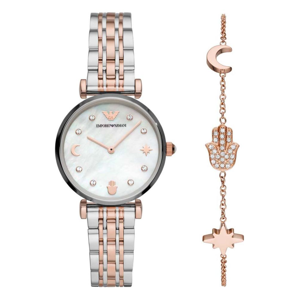 Emporio Armani Ladies Watch and Bracelet Gift Set AR80037