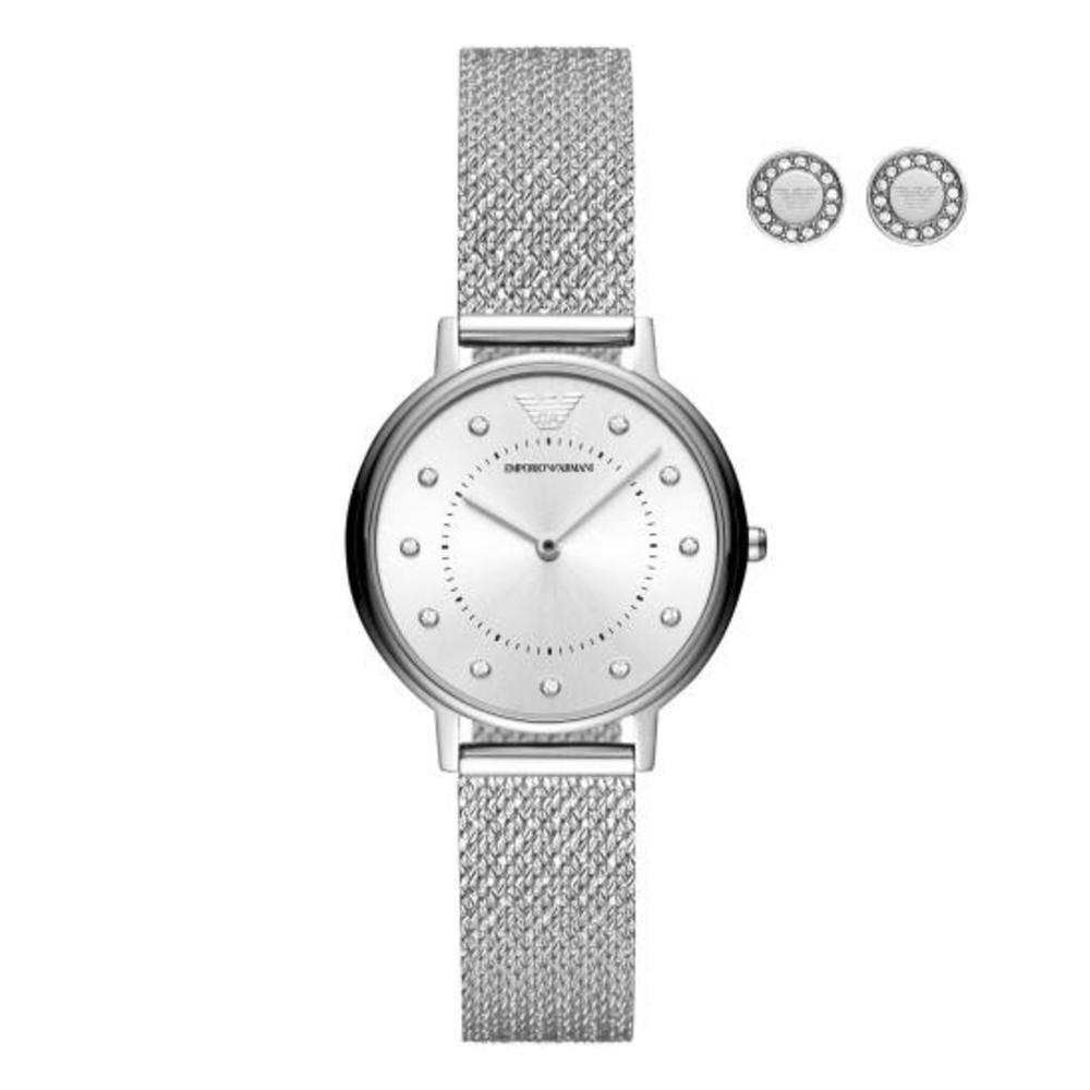 Emporio Armani Women's Kappa Analog Watch With Earrings AR80029