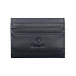 Fabian Leather Black Card Holder For Men - FMWC-SLG14-B