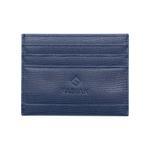 Fabian Leather Blue Card Holder For Men - FMWC-SLG41-BL