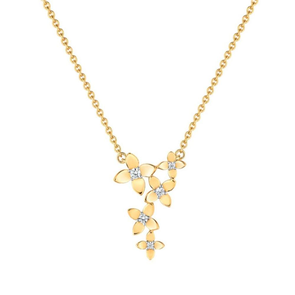 Fontenay Paris Gold Plated Necklace With Zircon-DSCA141Z40E