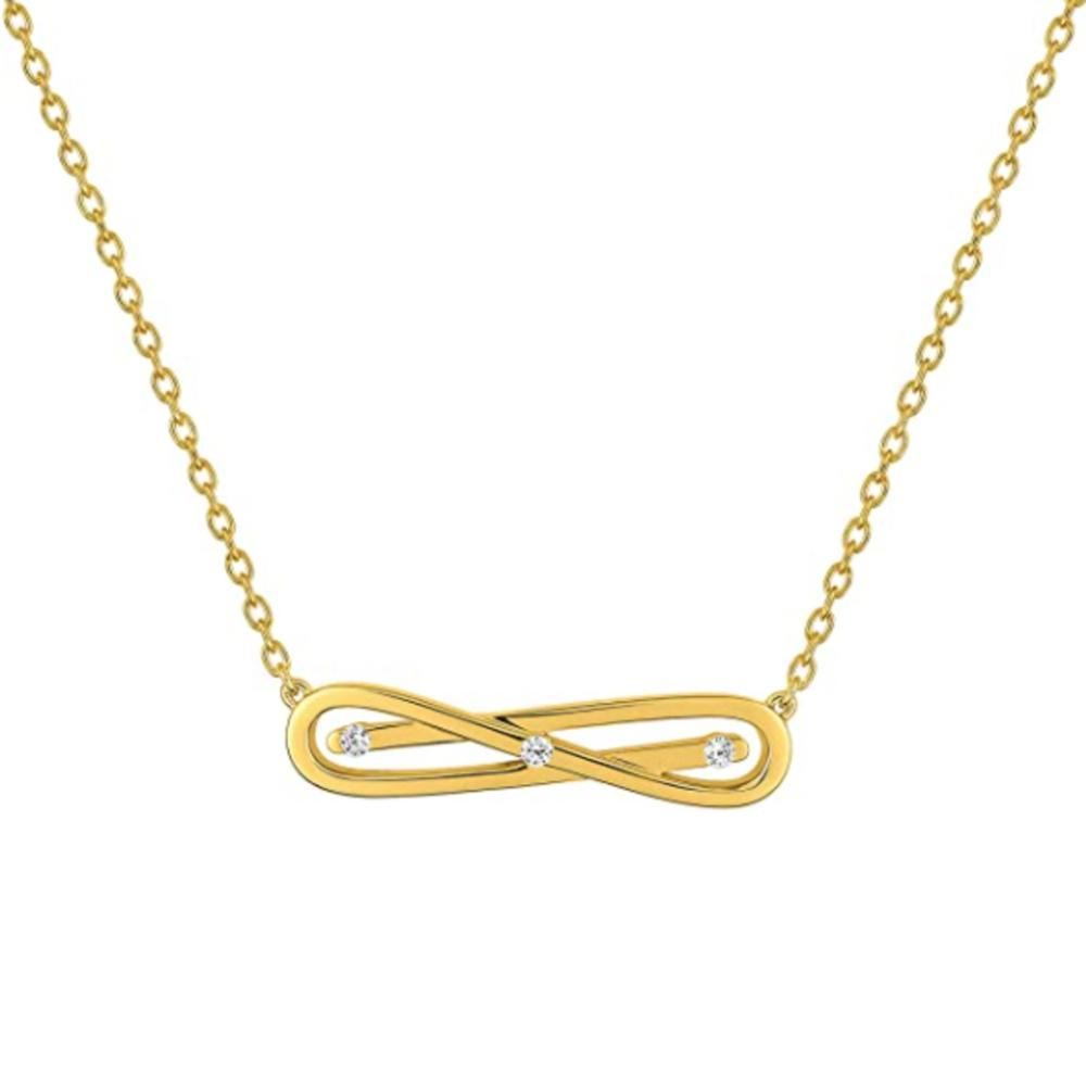 Fontenay Paris Gold Plated Necklace With Zirconia-DSC339Z40E