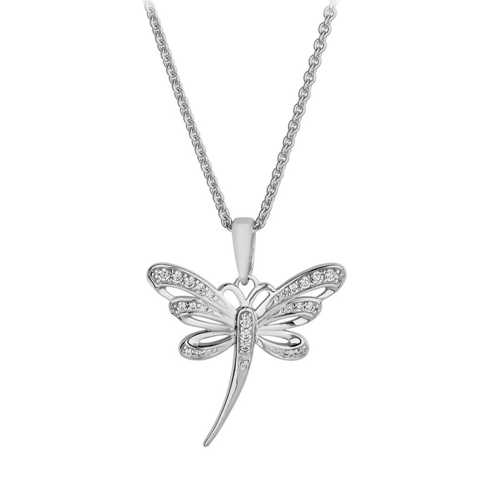 Fontenay Paris Rhodium Plated Pendant Necklace With Zircon-FSC333Z40E
