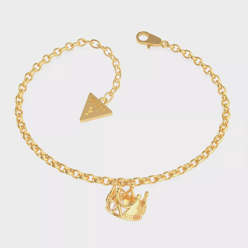 Guess Chain Crown Pendant Bracelet Ubb79013-S