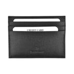 Jean Bellecour Long Grain Leather Card Holder Black 81028