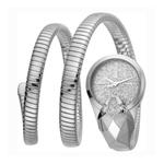 Just Cavalli Glam Snake Quartz Silver Dial Ladies Watch JC1L114M0015