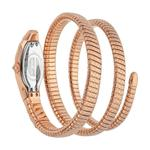 Just Cavalli Glam Snake Septagon Rose Gold Dial Ladies Watch JC1L112M0035