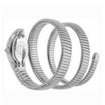 Just Cavalli Glam Snake Septagon Silver Dial Ladies Watch JC1L112M0015