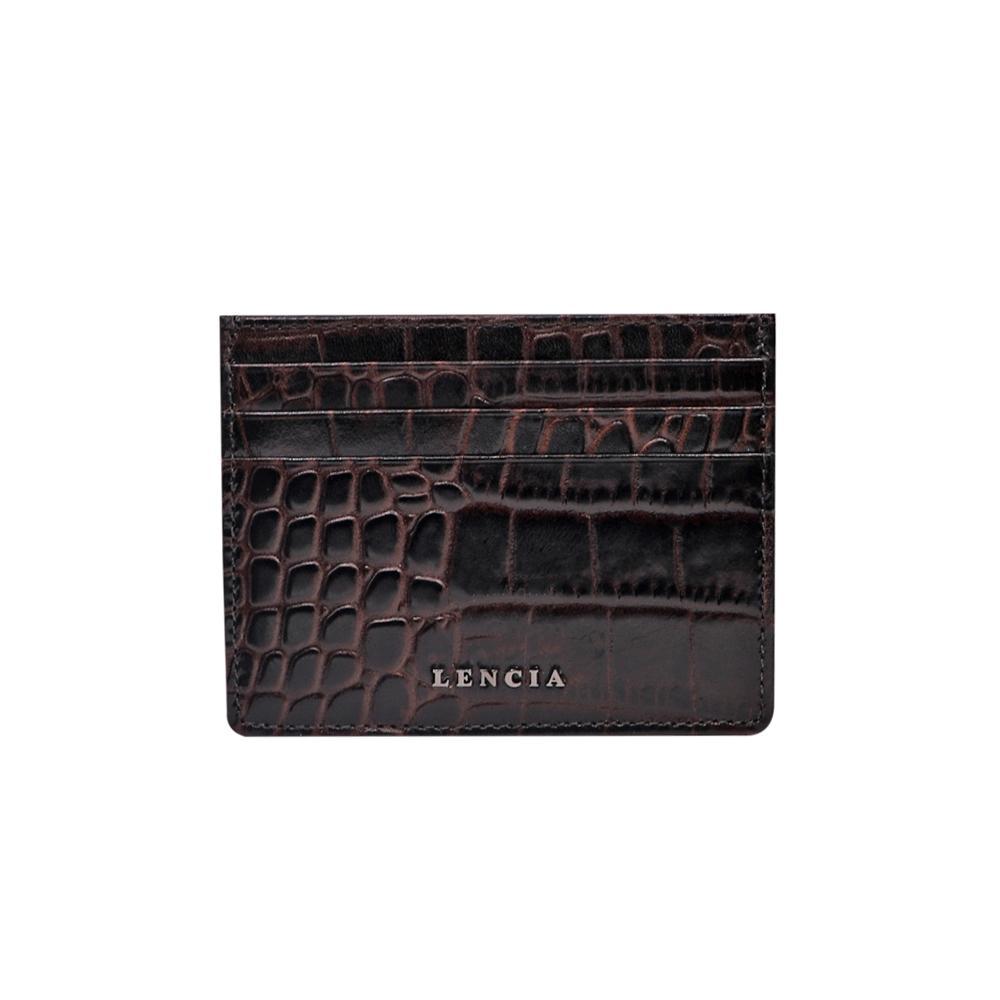Lencia Leather Card Holder For Men LMWC-15985-DBR