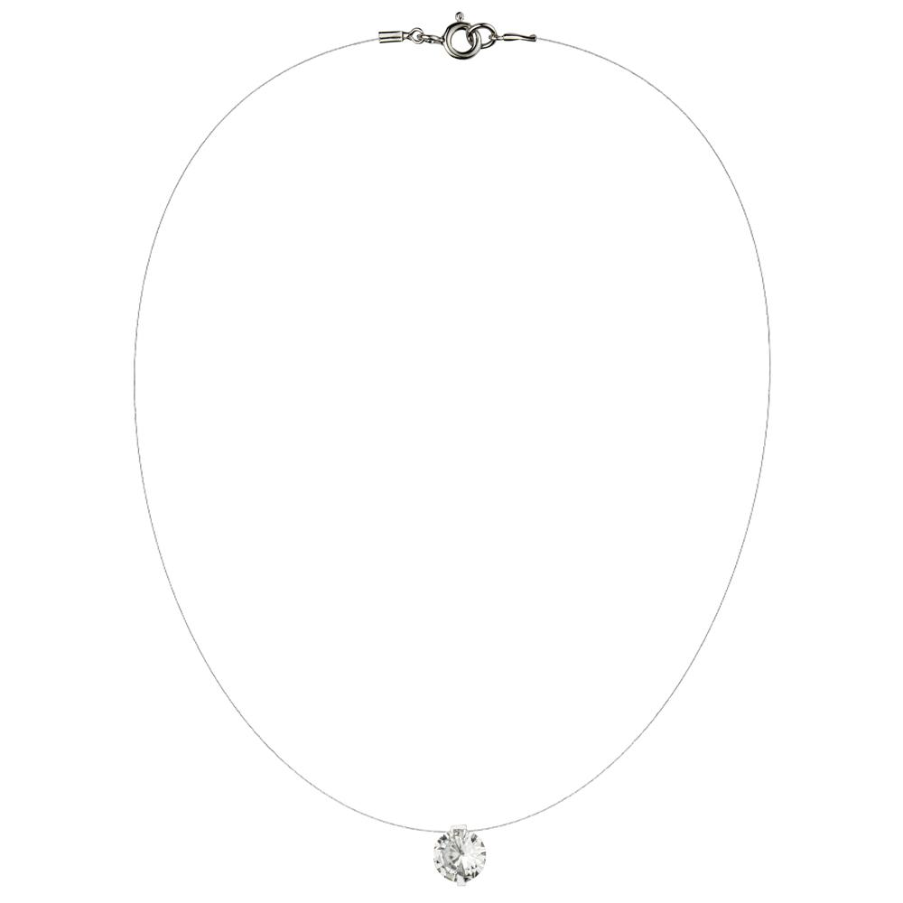 Lencia White Cubic Zirconia Crystal Necklace