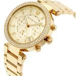 Michael Kors Parker Chronograph Champagne Dial Ladies Watch MK5354