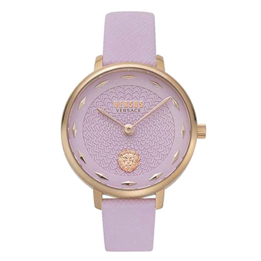 Versace Women's Leather Analog Wrist Watch V WVSP1S0719