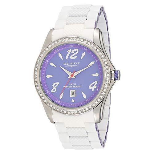BLADE 13-3161U-SVV Unisex Watch- Quartz Movement - Violet Aluminum & Silicon Band - Violet Dial - Hardened Mineral Glass -5ATM Water Resistant.