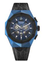 JOVIAL 1505 GBLC54 E Men Fashion Leather Strap Watch, 45mm, blue