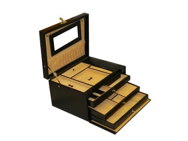 Laveri Jewellery Box Ring Necklace Earring Bracelet Storage Box Leather Multifunction Jewelry Organizer Box DARK BROWN