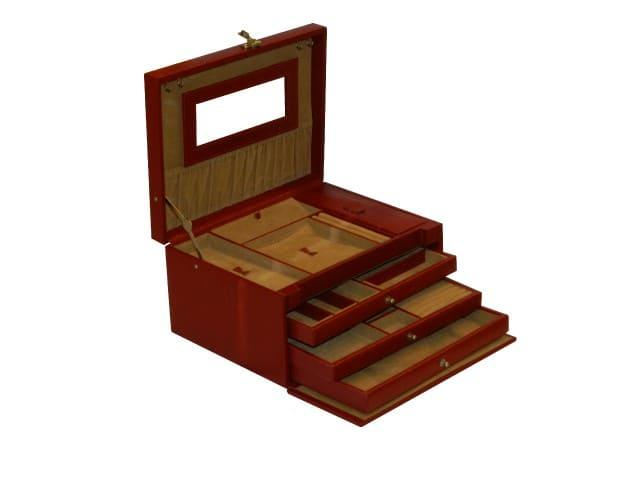 Laveri Jewellery Box Ring Necklace Earring Bracelet Storage Box Leather Multifunction Jewelry Organizer Box CHERRY