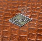 Laveri 10 Piece Genuine Leather Pen Case Storage and Fountain Pen , Chain, Braslets Organizer Box with Key Lock BROWN