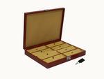 Laveri Genuine Leather Earring Box Organizer Storage Earrings Stud Tray Showcase Storage Case