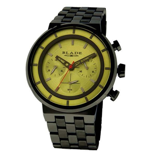 Blade Rebel Noir - Men's-<span>3539G2NEN</span> - 44mm Case - PVD Black Stainless Steel Case and Band - Dual Time Multifunction - Hardened Mineral Glass - 5 ATM Water Resistant