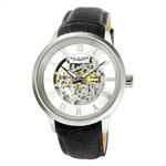 BLADE Men's Watch - Sempre - 3541G1SSN - 43mm Stainless Steel Case - Skeleton Automatic Mechanical - Black Genuine Leather Band - 5 ATM Water Resistant.