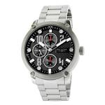 BLADE Combat II Noir - 3563G2SNS - Mens - 48mm Stainless Steel Case - Black Dial - 20mm Stainless Steel Band - Dual Time Multifunction - Hardened Mineral Glass - 5 ATM Water Resistant.