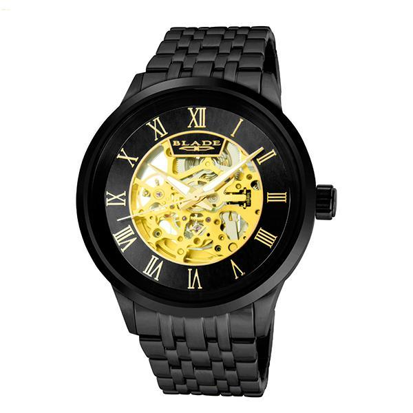 BLADE Men's Watch - Sempre SS - 3590G2NNN - 43mm Stainless Steel Case - Skeleton Automatic Mechanical - Stainless Steel Band - 5 ATM Water Resistant.
