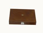 Laveri Genuine Leather Organizer Storage Earrings , Ring And Cufflunks Showcase Storage Case