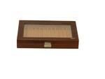 Laveri Genuine Leather Chain Box Organizer Storage Chain And Bracelet Showcase Storage Case