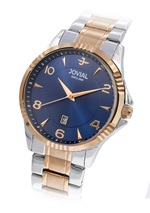 JOVIAL 5034GAMQ04E Men's Fashion Stainless Steel Band Watch, 42mm, Blue
