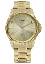 JOVIAL 5034GGMQ07E Men's Fashion Stainless Steel Band Watch, 42mm, champagne