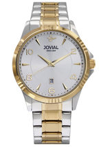 JOVIAL 5034GTMQ01E Men's Fashion Stainless Steel Band Watch, 42mm, White