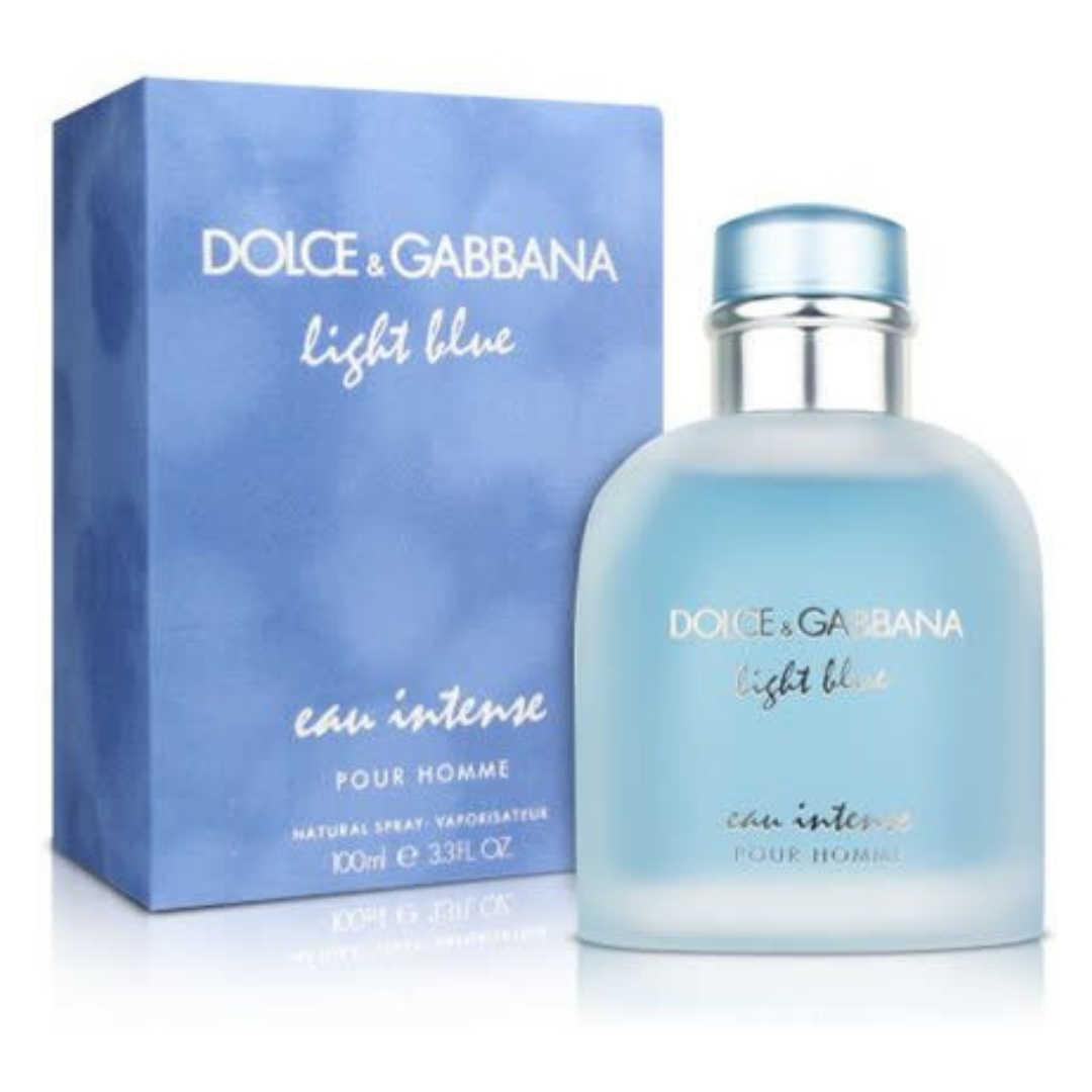 Dolce&Gabbana Light Blue Eau Intense Pour Homme For Men Eau De Parfum 100ML