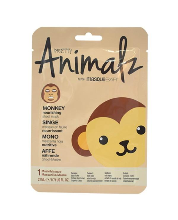 Masque Bar Pretty Animalz Monkey Nourishing Sheet Mask 21ml