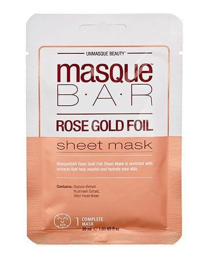 Masque Bar Rose Gold Foil Sheet Mask 30ml