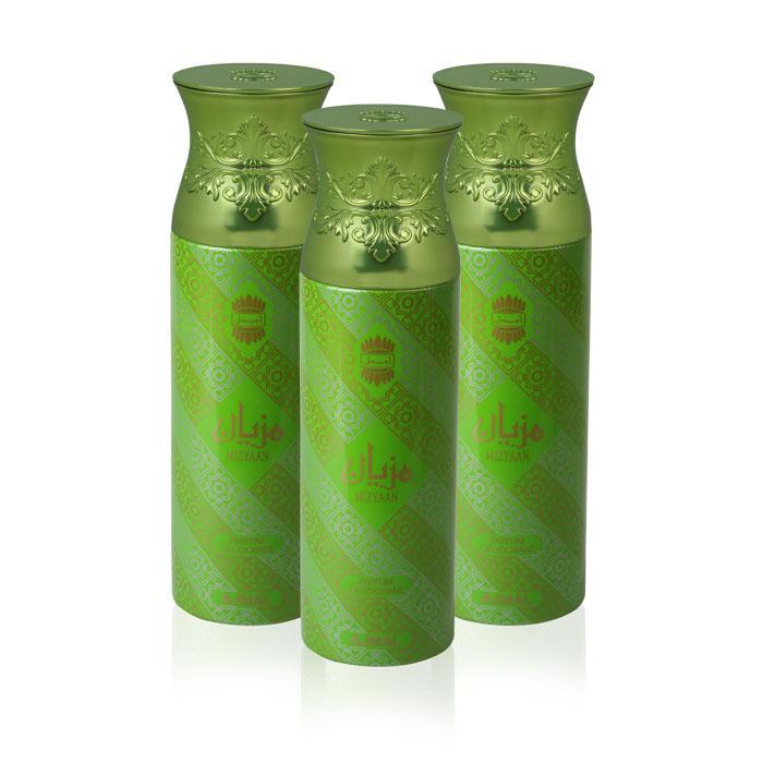 Ajmal Perfumes Mizyaan Deodorant For Unisex 3 In 1 Pack 200ml