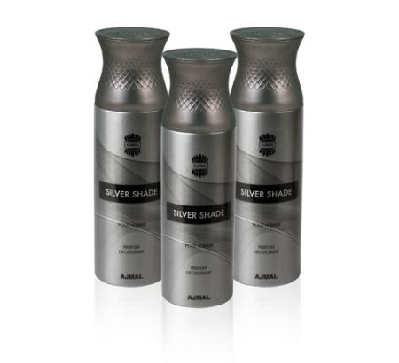 Ajmal Perfumes Silver Shade Deodorant For Men 3 In 1 Pack 200ml