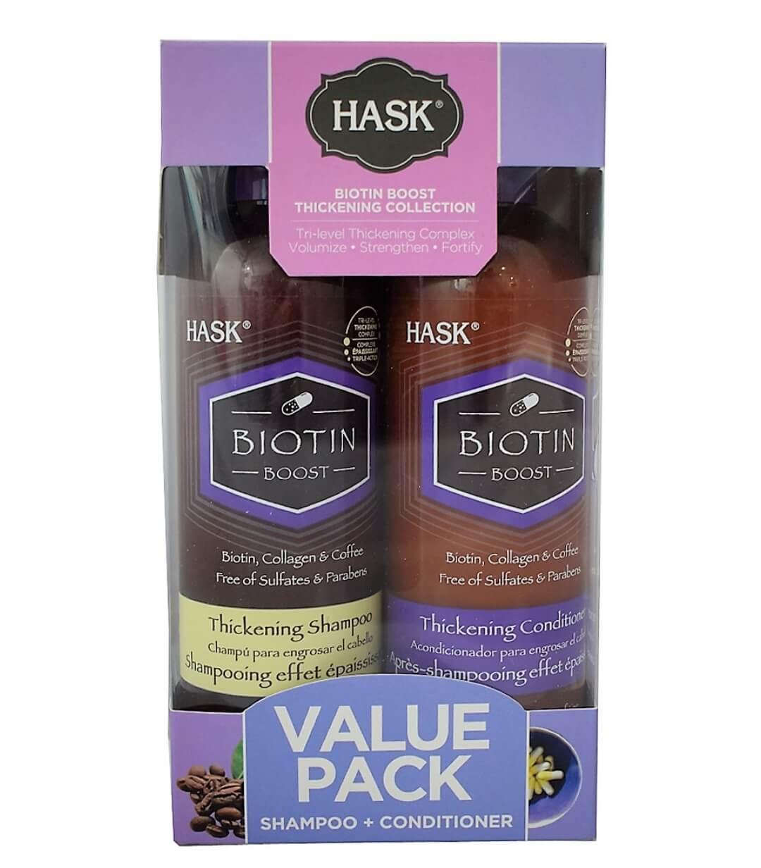 Hask Biotin Shampoo 355ml & Conditioner 355ml Value Pack