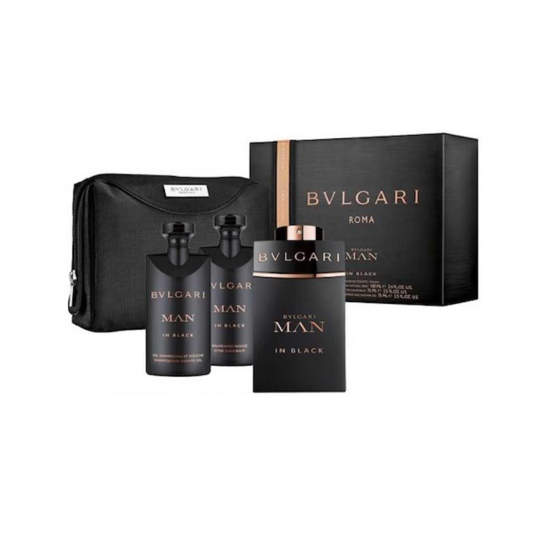 Bvlgari Man In Black For Men Eau De Parfum 100ML Set
