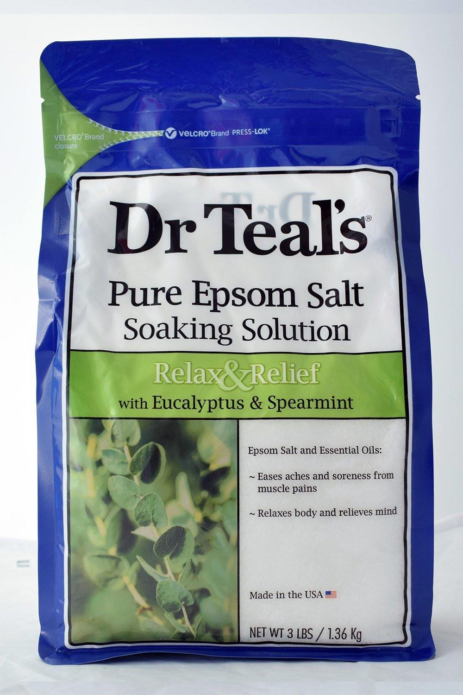 Dr. Teal's Epsom Bath Salt Eucalyptus & Spearmint 1.36kg