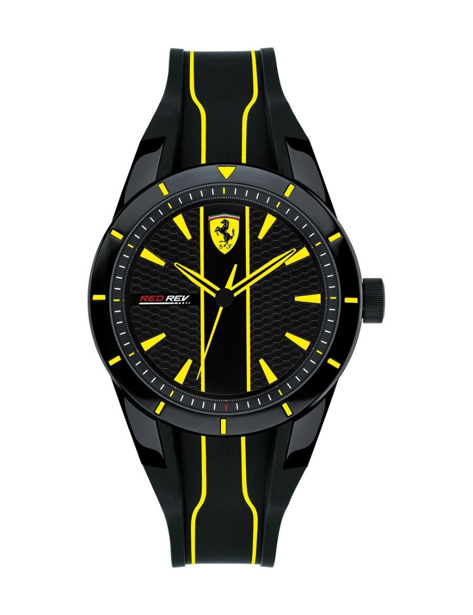 Ferrari Men's Silicone Strap Analog Watch 830480