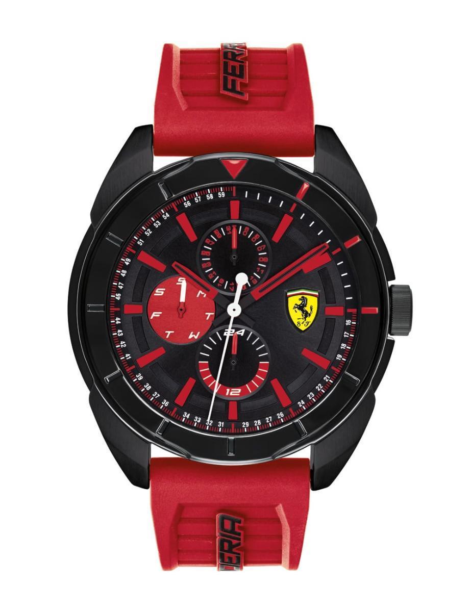 Ferrari Men's Forza Water Resistant Silicone Analog Watch 830576