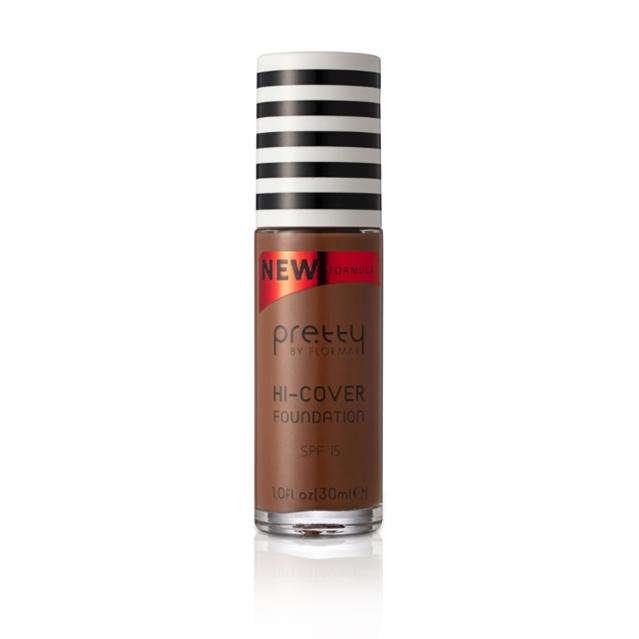 Pretty by flormar Hi- Cover Foundation - Dark Caramel 014