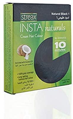 Streax Insta Cream Hair Colour Natural Black 15ml
