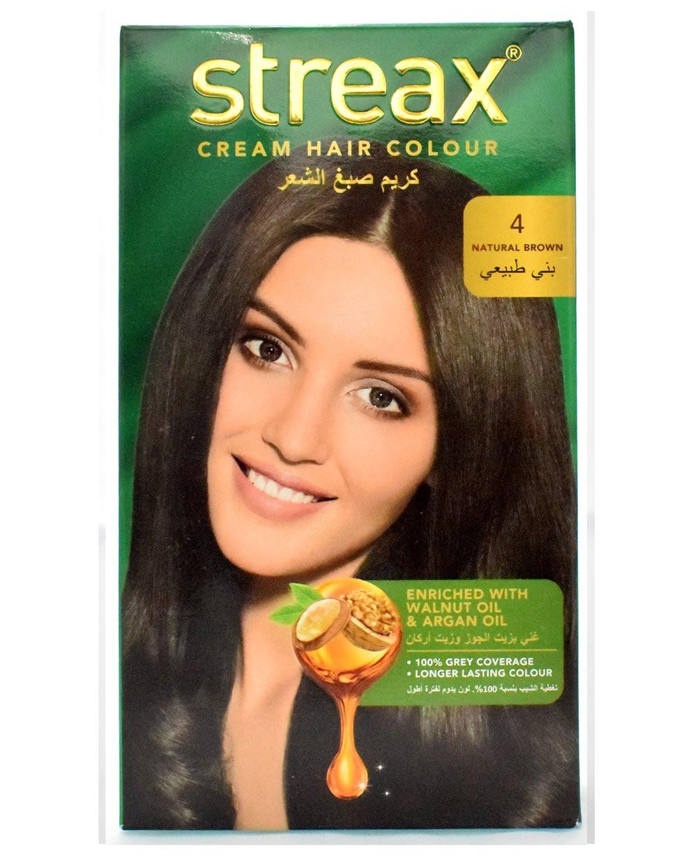 Streax Cream Hair Color Natural Brown 4