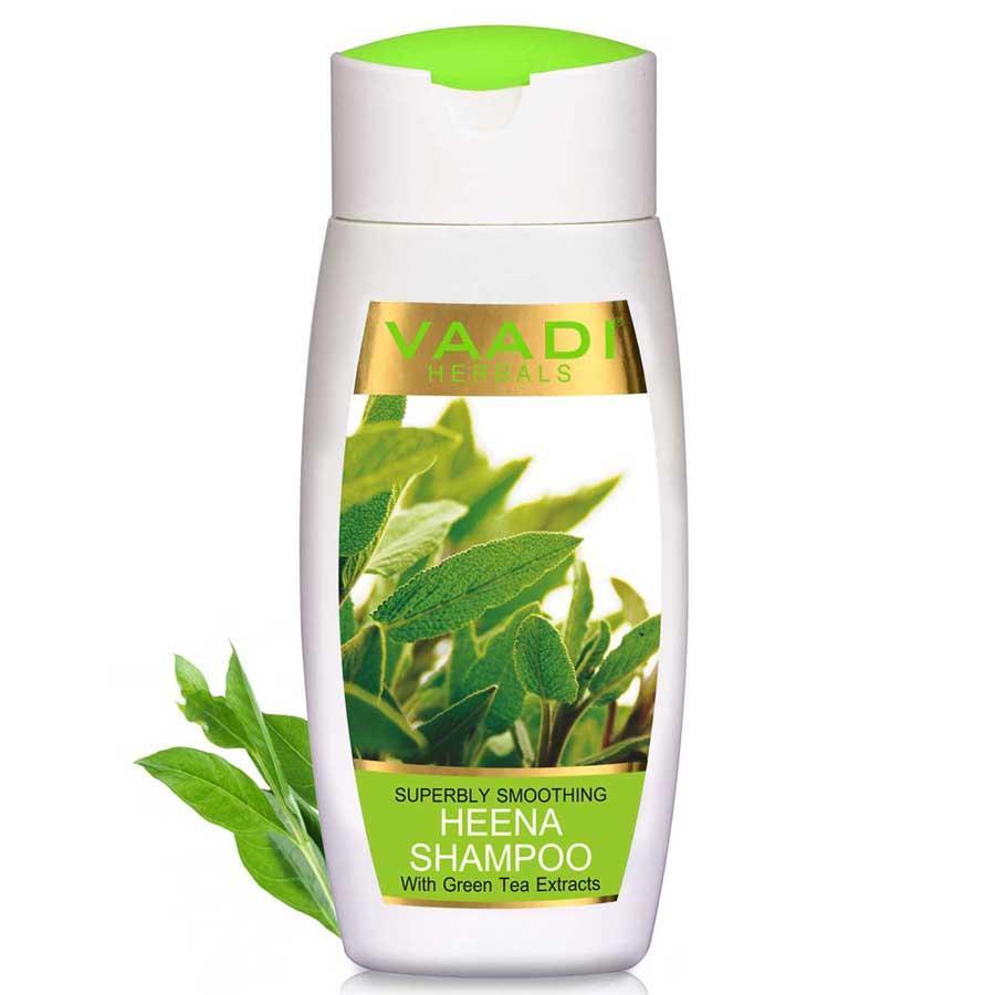 Vaadi Herbals Superbly Smoothing Organic Heena Shampoo With Green Tea Extract (110 Ml/4 Fl Oz)