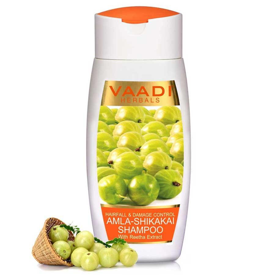 Vaadi Herbals Hairfall & Damage Control Organic Shampoo (Indian Gooseberry Extract) (110 Ml/4 Fl Oz)
