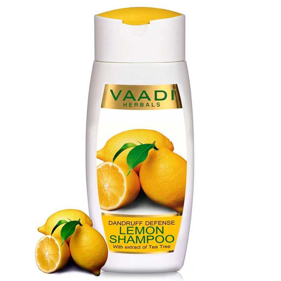 Vaadi Herbals Dandruff Defense Organic Lemon Shampoo With Tea Tree Extract (110 M/ 4 Fl Oz)